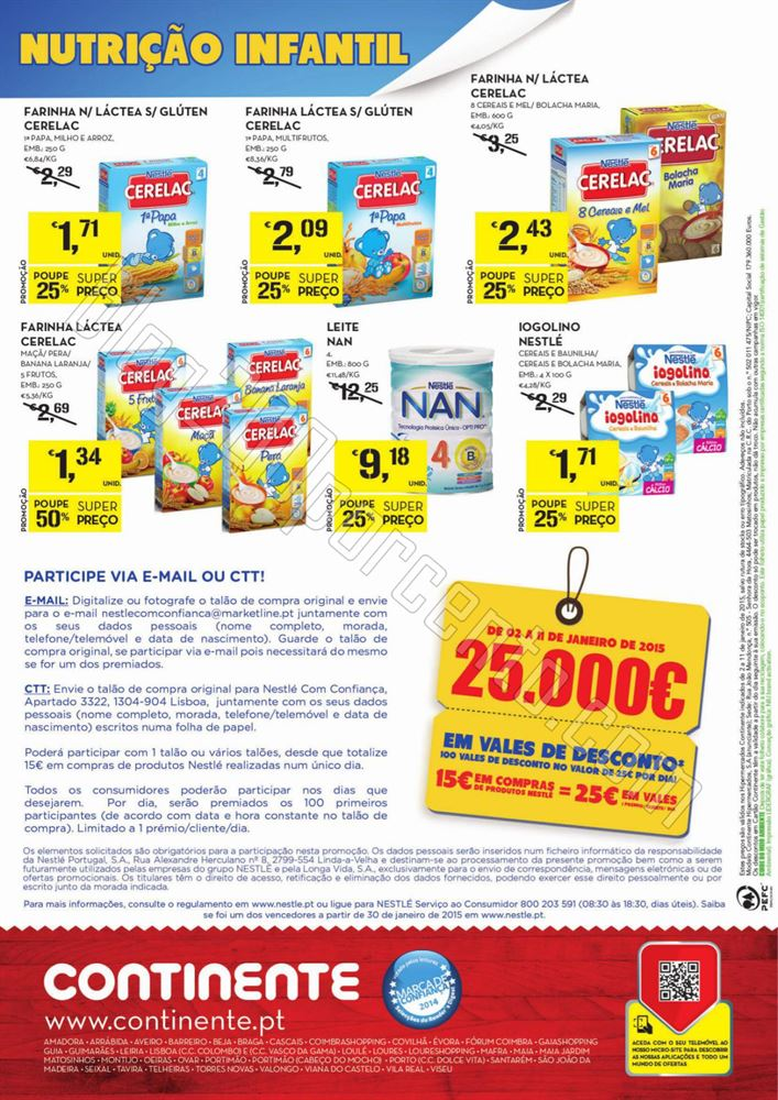 Antevisão Folheto CONTINENTE Nestlé de 2 a 11 ja