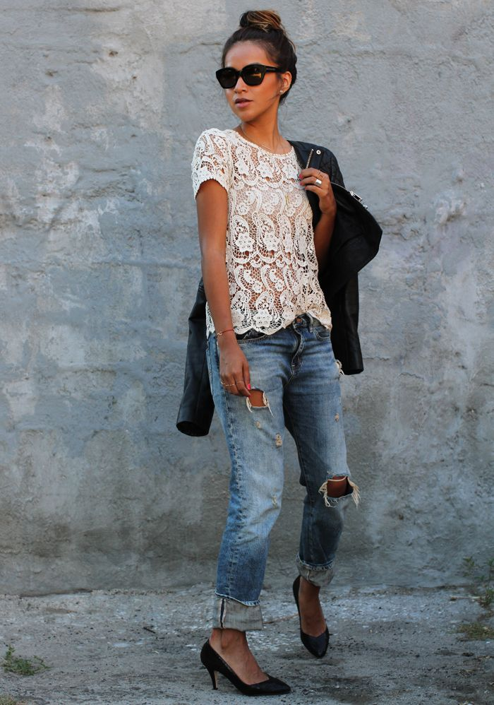street-style-outfit-distressed-denim-and-lace-top