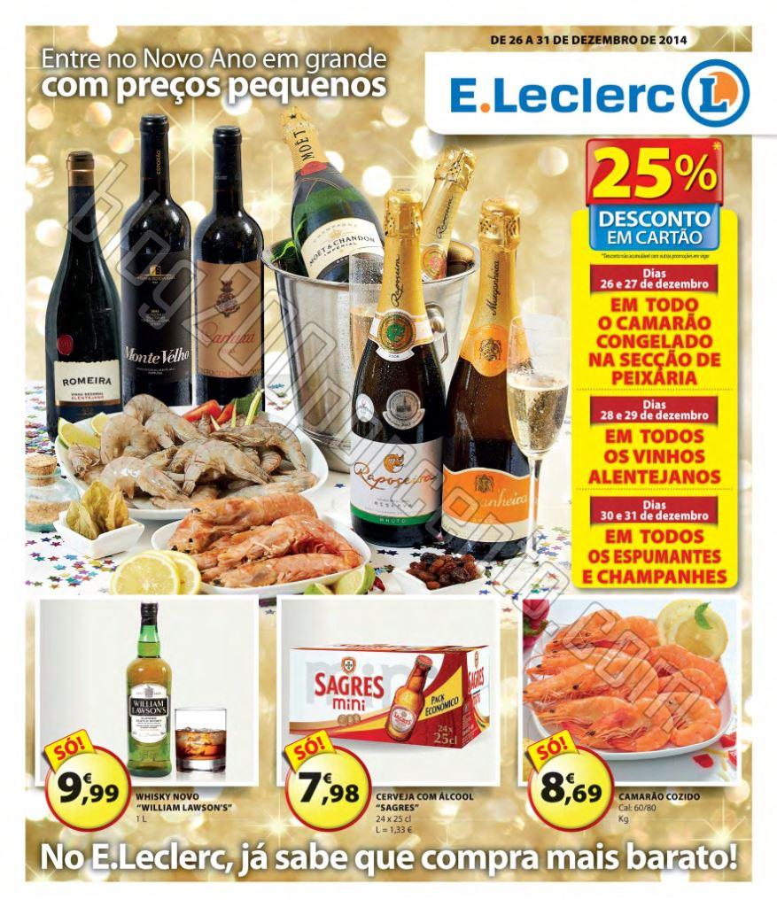 Antevisão Folheto E-LECLERC Ano novo de 26 a 31 d