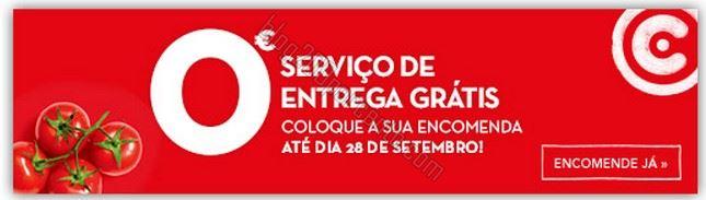 Oferta de taxa de entrega CONTINENTE até 28 setembro