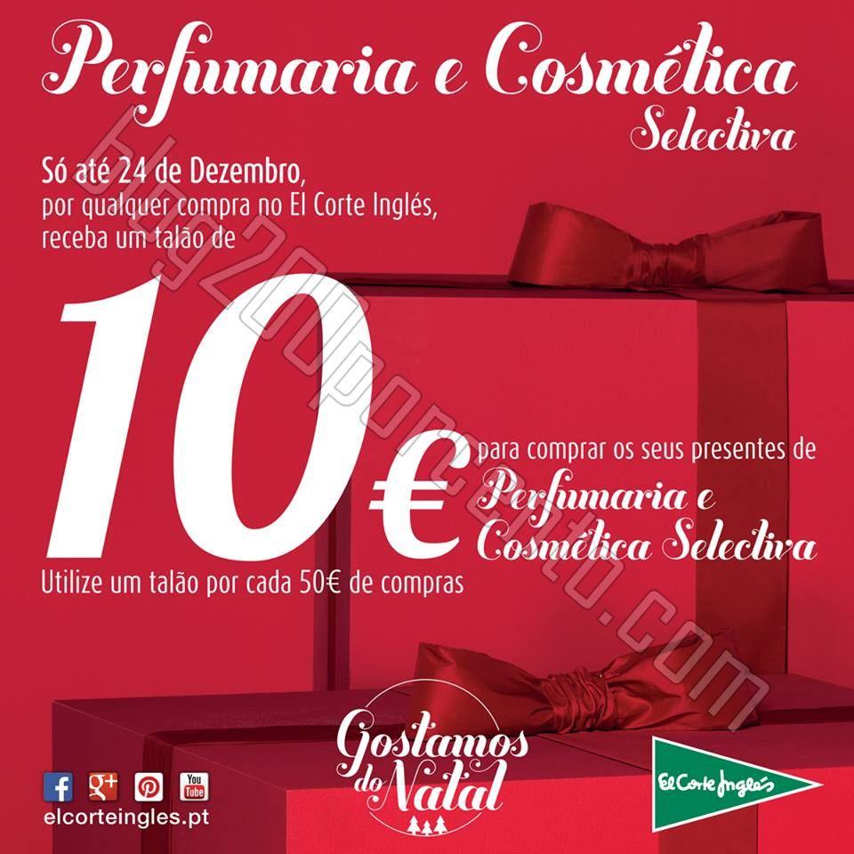 Vale de 10€ em perfumaria EL CORTE INGLÉS até