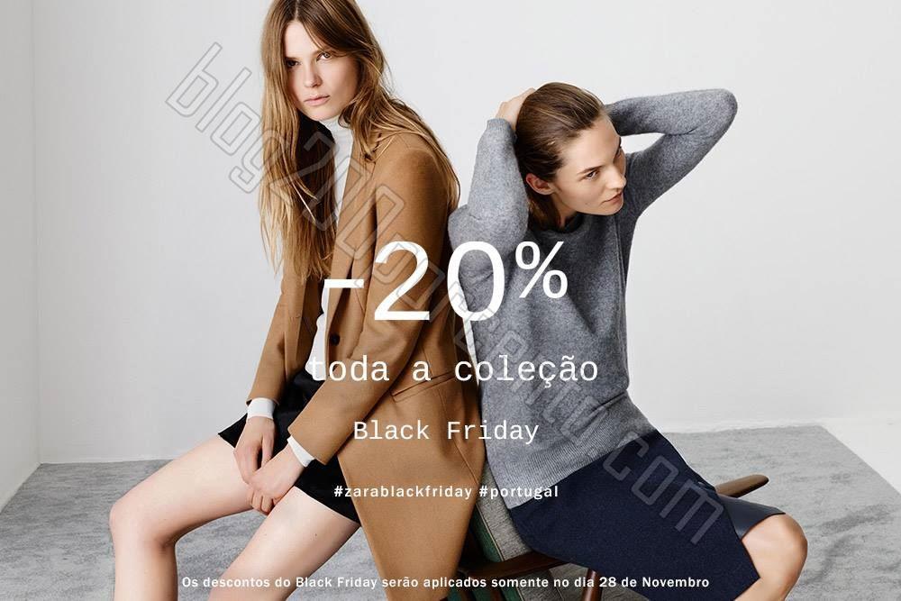 20% de desconto ZARA Black Friday apenas amanhã.j