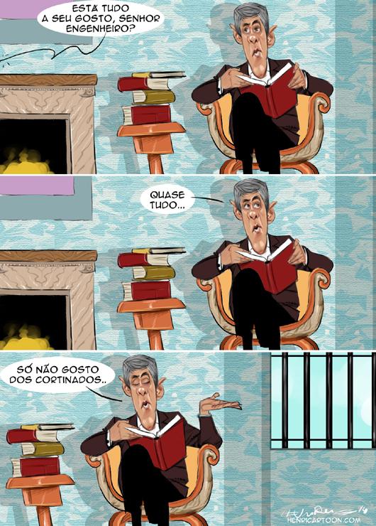 Cartoons - José Sócrates na prisão de Évora